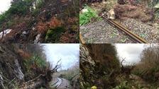 Storm damage on railway revealed