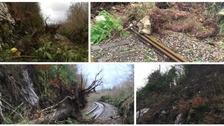 Storm damage on railway revealed
