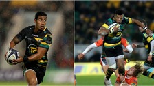 Ken Pisi (left) and Luther Burrell (right) are staying at Northampton Saints.