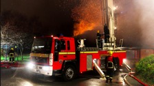 Homes evacuated as fire crews tackle large fire in Bolton