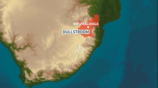 The attack occurred in remote farmland in Dullstroom, South Africa.
