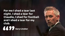 Gary Lineker reduced to tears by Claudio Ranieri sacking