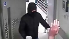 Dramatic CCTV shows staff held at knifepoint