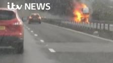 Inferno as lorry catches fire on M4
