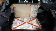 Almost £1 million cash found in black cab in London