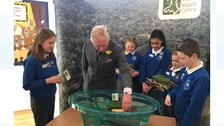 Prince Charles visits Cwmbran school children