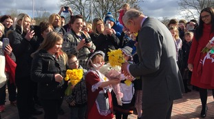 Prince Charles visits Cwmbran school children and meets Dinefwr Park's rare cattle