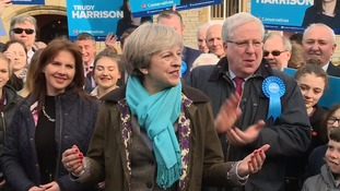 Theresa May praised Trudy Harrison's victory.