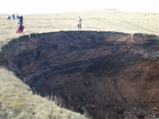 Sinkhole in South Tyneside.
