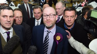 Paul Nuttall of Ukip in Stoke-on-Trent for the by-election
