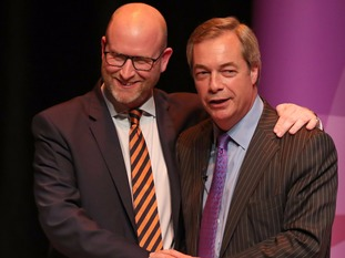 Paul Nuttall and Nigel Farage of Ukip