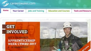 Careers Wales website