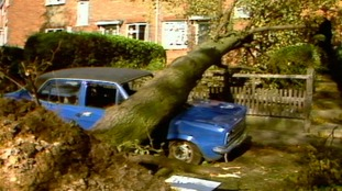 Damage caused by the Great Storm of October 1987.