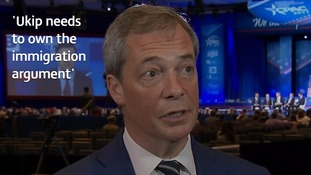 Nigel Farage tells ITV News Ukip has to 'own immigration' debate as he slams Stoke failure
