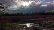 Stormy clouds over Martlesham in Suffolk