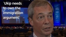 Farage tells ITV News Ukip must 'own immigration' debate
