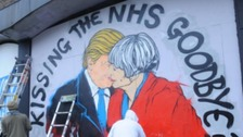 Street art highlights fears over health service cuts