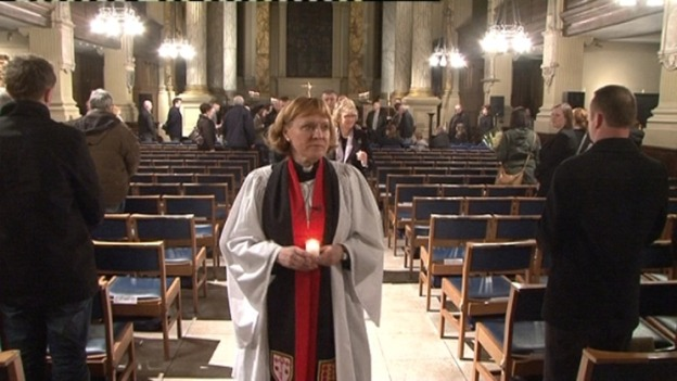 The Very Revd Catherine Ogle, Dean of Birmingham, led the vigil