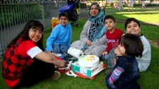 Mother Sabah Usmani and her five children died in the fire last month
