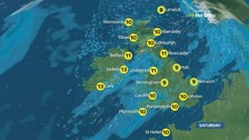 Weather: Cloudy with strong winds and rain