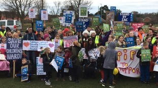 Protest over Bassetlaw Hospital children's ward overnight closure
