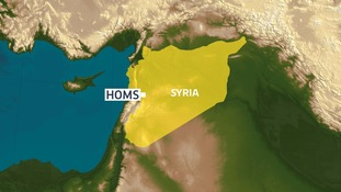 The attacks happened in Homs.