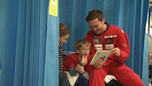 Freefall display team meet sick children in hospital saying 'they are a lot braver than us'