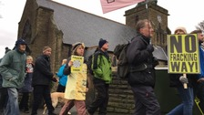 Residents hold protest march over fracking fears