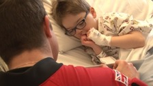 Freefall display team meet sick children in hospital