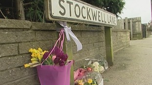 Flowers at the scene where Mr Hendry died