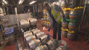 Craft ales in kegs