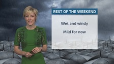 Wales weather: rain and wind easing overnight