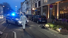 Car drives into pedestrians in Heidelberg in Germany