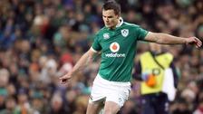 Ireland's Jonathan Sexton scores a penalty.