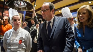Francois Hollande visiting Disneyland Paris