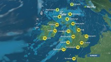 Weather: Another windy day with rain moving in from west