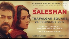 The Salesman has its UK premier in Trafalgar Square