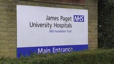 The man was taken to James Paget Hospital.