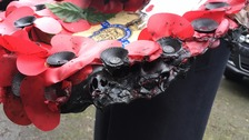 Clean-up operation after poppy wreaths found burned
