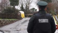 Police at the scene in Newtownards.