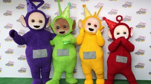Teletubbies on green carpet for 20th anniversary of show at BFI Southbank