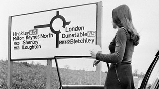 Milton Keynes came up with the idea of using postcodes on it signposts