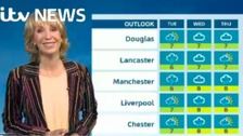 Emma Jesson in front of Granada outlook weather graphic