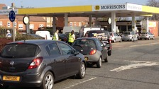 Fuel queues in Maidstone