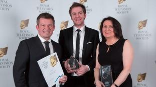 ITV Tyne Tees pick up two honours at the Royal Television Society awards