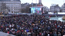 Thousands pack Trafalgar Square for screening