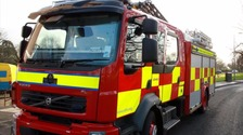 Crews extinguish fire at linen mill in Maghera