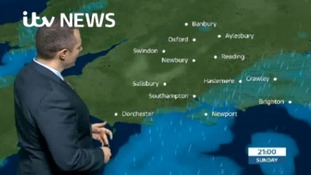 Sunday evening's forecast for the west
