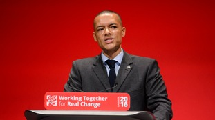 Clive Lewis MP at the Labour party conference in Perth in Scotland