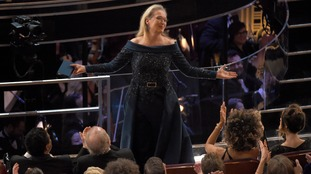The audience applauded Streep at the Oscars.
